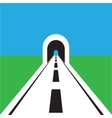road with tunnel web flat icon vector image