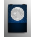 Vertical Poster Grass Moon Star Night Sky vector image