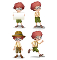 Different moods of a young boy vector image vector image