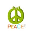 Peace Word And Corresponding  Cartoon vector image