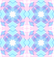 Abstract geometric snowflake star pattern vector