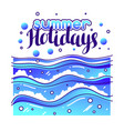 summer holidays at seaside stylized vector image vector image