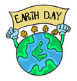 earth day with world collection vector image