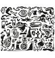 Halloween monsters - doodles vector image vector image