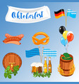 set of flat design icons for oktoberfest isolated vector image