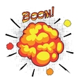 Comic book speech bubbles depicting of sounds vector image
