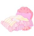 Princess Bed vector image vector image