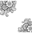 Flower ornament corner vector image