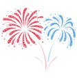 Fireworks red and blue vector image