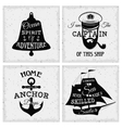 Nautical Quotes Compositions vector image
