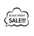 black friday sale creative design in retro style vector image