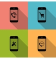 Concept on Different Mobile Phote Icons vector image