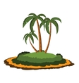 Desert island with palm trees vector image