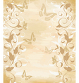 floral border on papyrus vector image