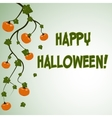 Halloween postcard with pumpkins vector image
