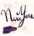 New York text vector image