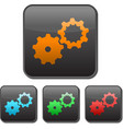 setting buttons gear glossy style vector image