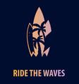 surfingboards background surf design t-shirt vector image