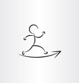 man running runner icon vector image