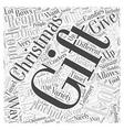 christmas gift food Word Cloud Concept vector image