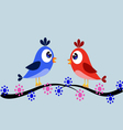 Birds on the branch vector image vector image