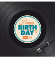 vinyl happy birthday card vector image vector image