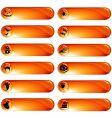 set of orange Halloween labels vector image