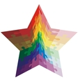 Jigsaw puzzle shape of a star shaped colors vector image vector image