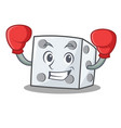 boxing dice character cartoon style vector image