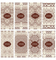 Cards Vintage decorative elements vector image