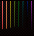 colorful laser beams abstract laser rays all vector image