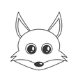 cute fox cartoon icon vector image