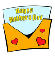 Greeting card for mother day icon cartoon vector image