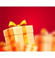 Christmas holiday gift boxes vector image vector image
