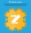 Pocket knife icon sign Floral flat design on a vector image