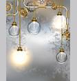 round industrial light bulbs vector image