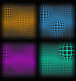 set abstract backgrounds with half tone effect vector image