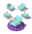 isometric wide armchair vector image