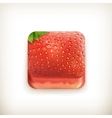 Strawberry app icon vector image vector image