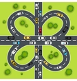 Highway traffic vector image