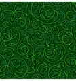 abstract floral green seamless background vector image vector image