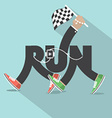 Run With Legs Typography Design vector image