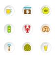 Barley drink icons set cartoon style vector image