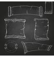 Chalk drawing Set of ribbons vector image