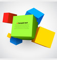 colorful three dimensions cubes vector image