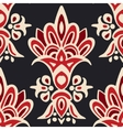 cute seamless floral damask pattern vector image
