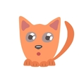 Cute surprised cat lying and hunting vector image