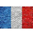 Flag of France on a brick wall vector image