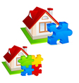 model of house vector image