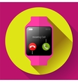 Modern smart watch icon Flat design style vector image